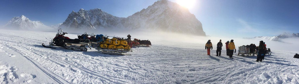 Snowmobile logistics on Svalbard