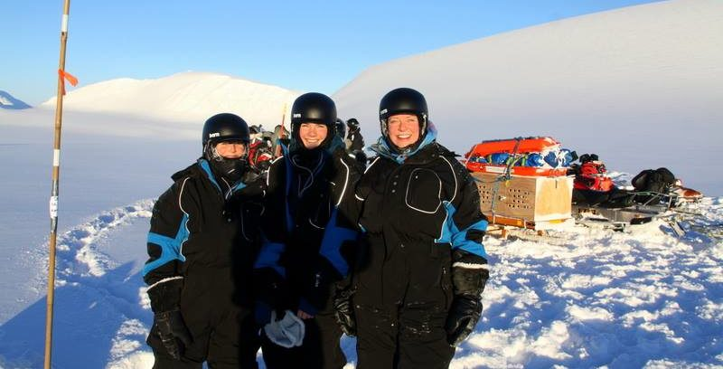 Svalbard Safari girls. Youngest team going from North to south of Spitsbergen