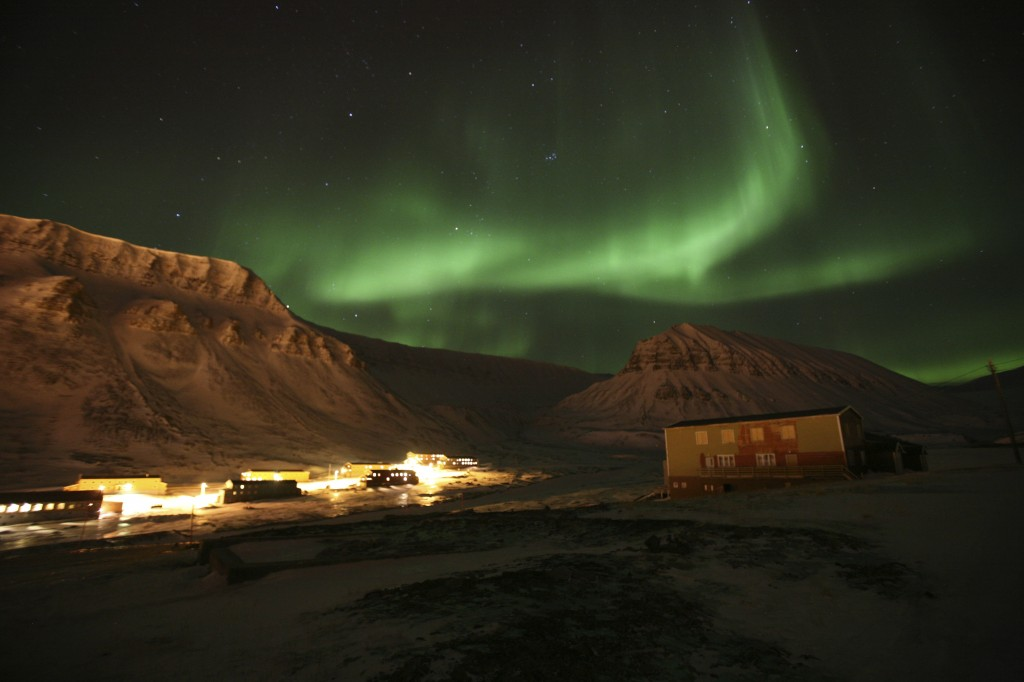 Snøskutertur i fra Longyearbyen, Spitsbergen, Svalbard. Opplev isbjørn, nordlys (aurora borealis) og midnattsol