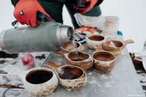 warm coffee on the sea ice