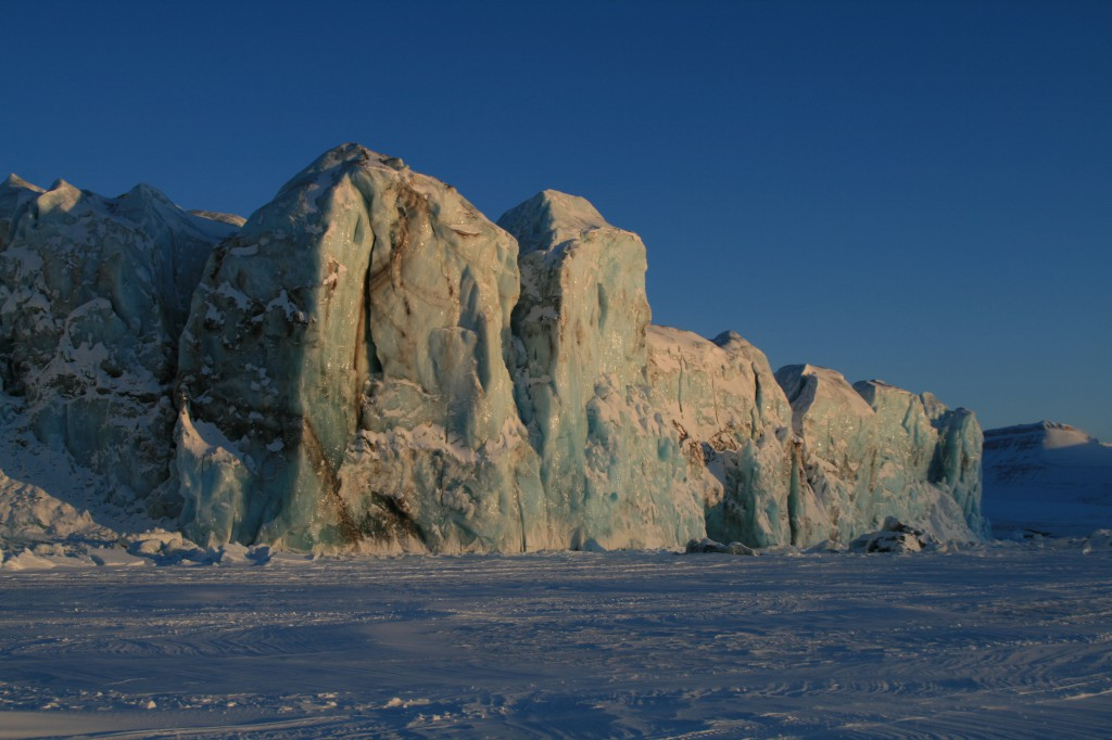 Brefront Tempelfjorden, Svalbard