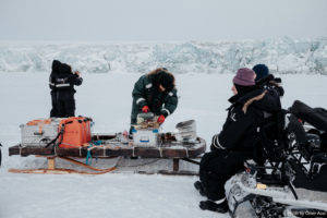 lunch on the sea ice, eastcoast, Svalbard