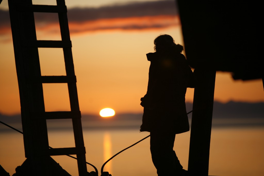 Midnight sun, Longyearbyen Svalbard