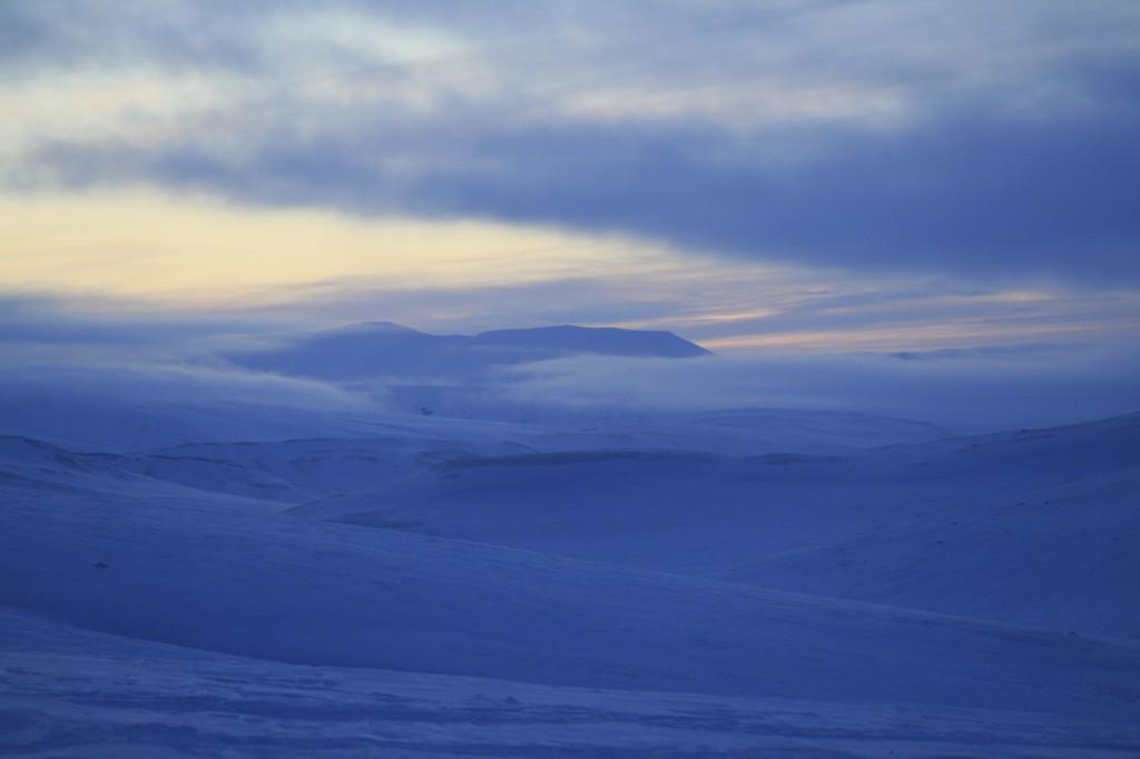 Winter Twilight Svalbard