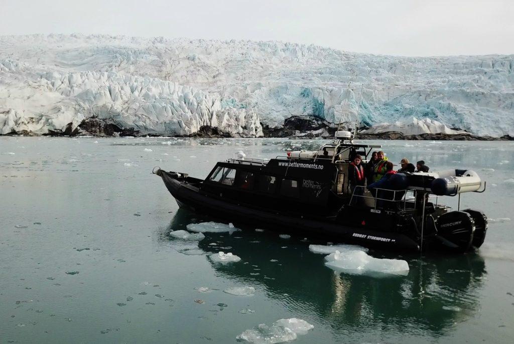Boat in front of Glacier