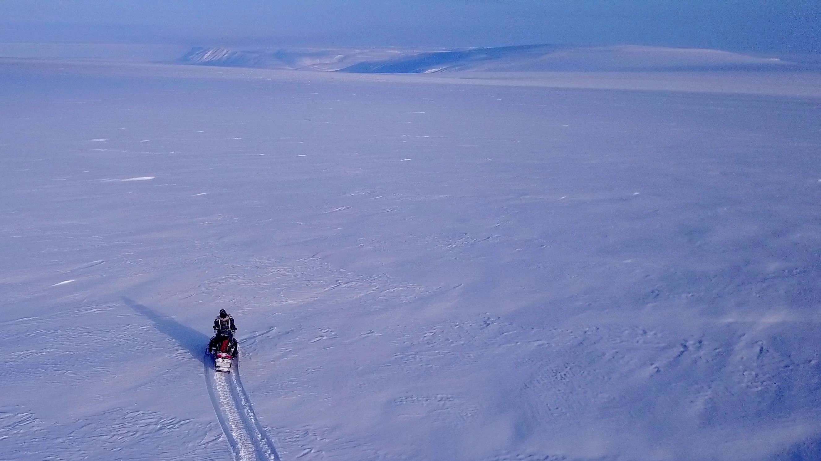 Fresh snow on Ulverbreen, Svalbard