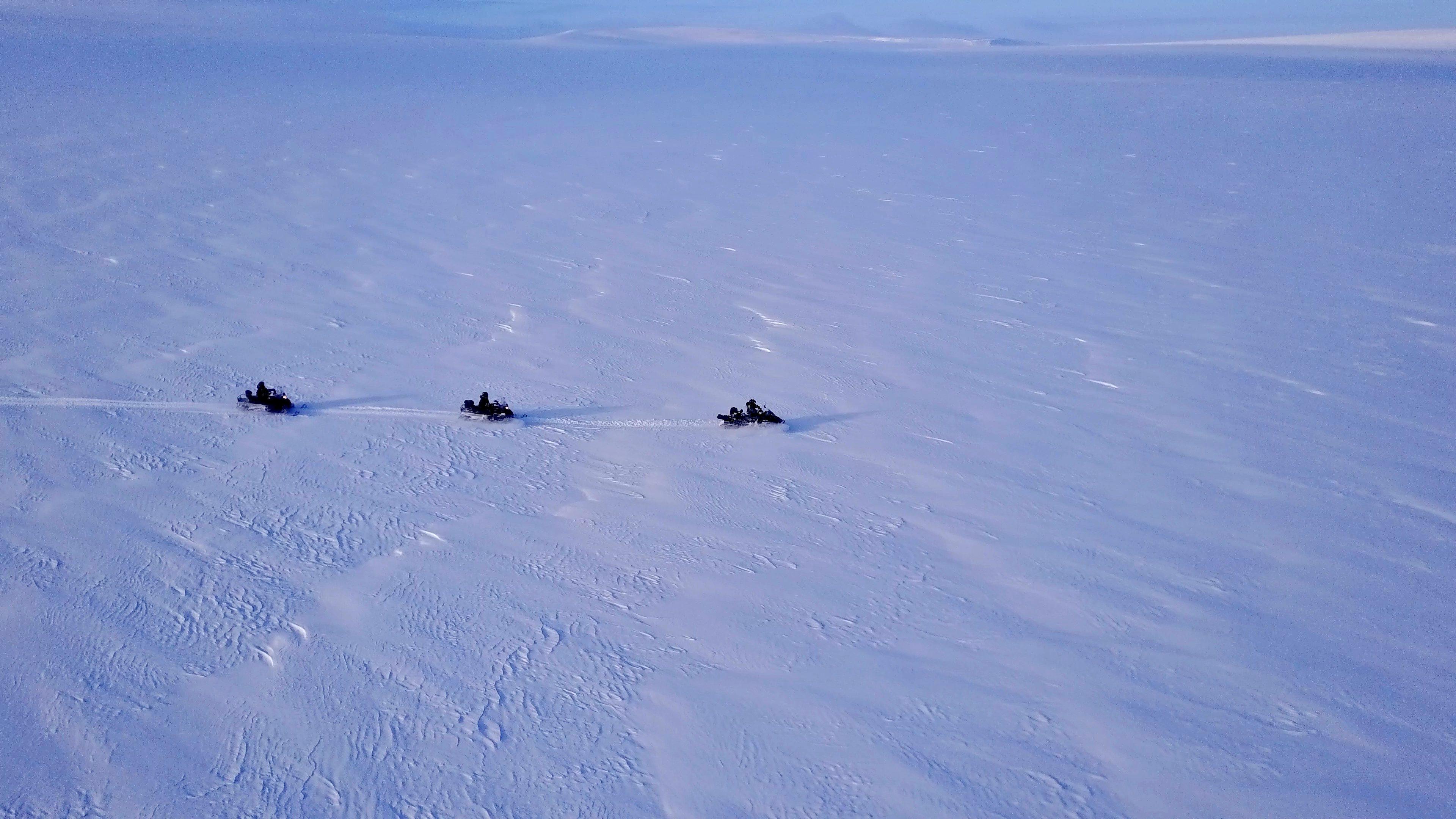 Across Ulverbreen Spitsbergen Svalbard