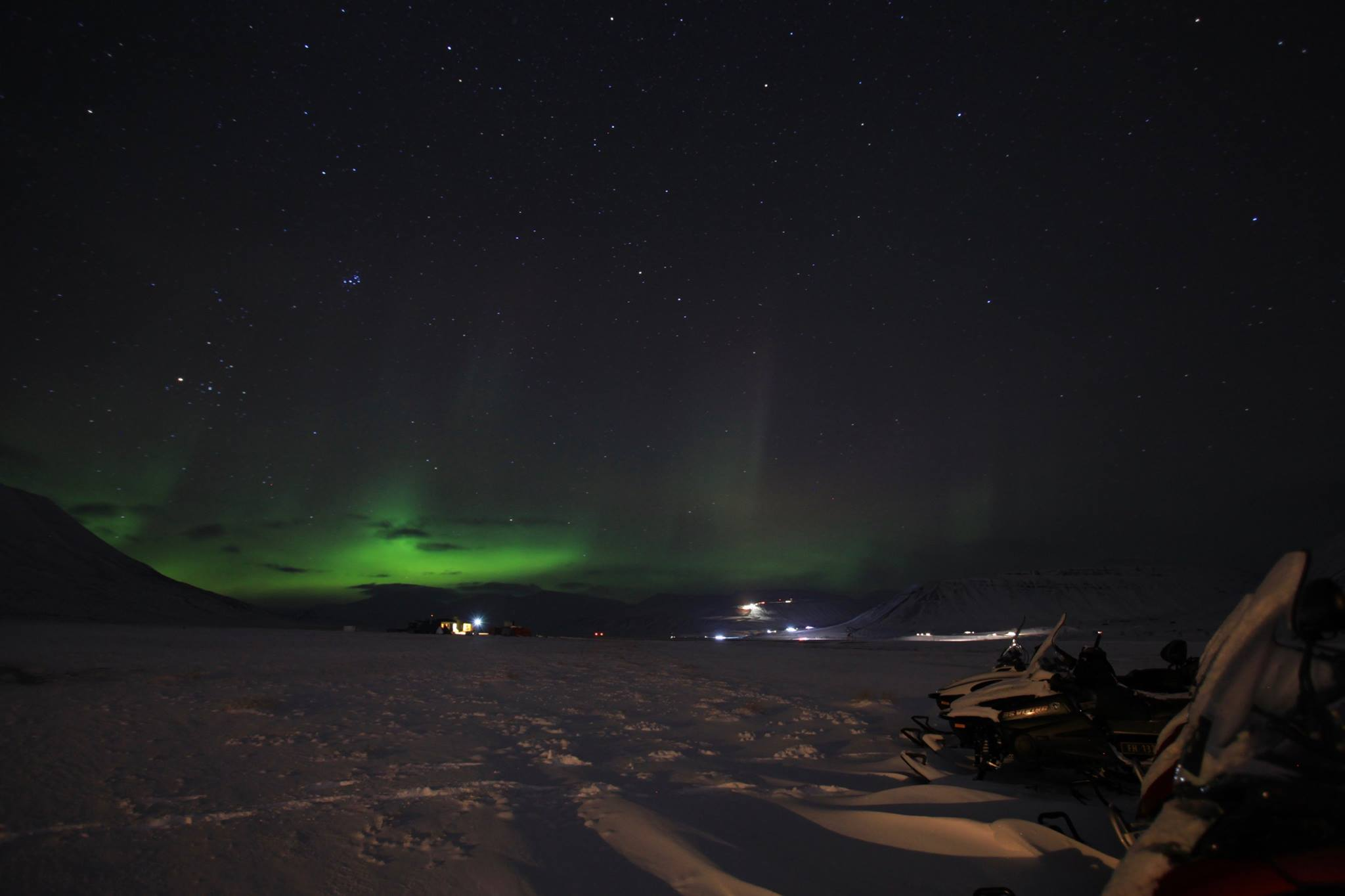 Hunt Northern Lights on our guided snowmobile trip