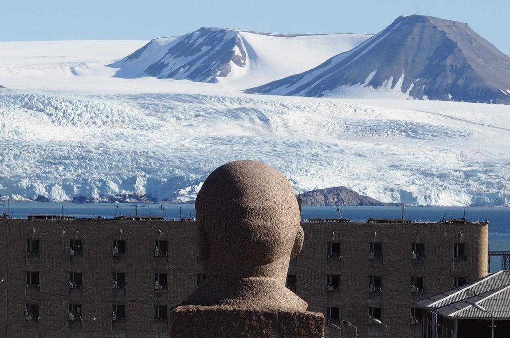 Lenin Statue in Pyramiden, Svalbard