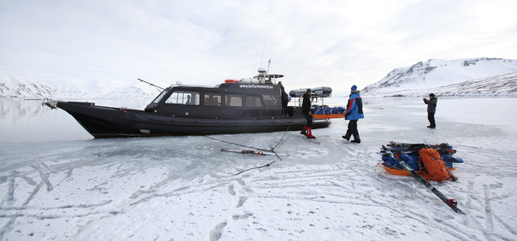 Logistics for Ski trips in Spitsbergen