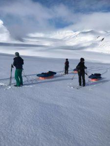On the glacier. Svalbard.