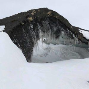 Icy sculptures