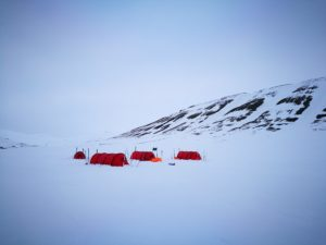expedition camp Svalbard